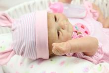 Piękne 18 cal (45 CM) silikonowe Lalki Dziewczyna Handmade Realistyczne Reborn Babies Newborn baby Doll Prezent Dla Dzieci Prezent Urodzinowy