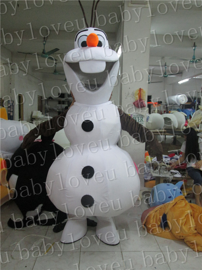 Christmas gift High Quality Olaf Mascot Costume Cosplay Dress Fancy Adults size