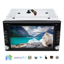 Eincar 2 DIN Car Navigation GPS Android 7.1 of 2din head unit DVD / radio (AM/FM) stereo/ Bluetooth / USB / cam-in Backup Camera