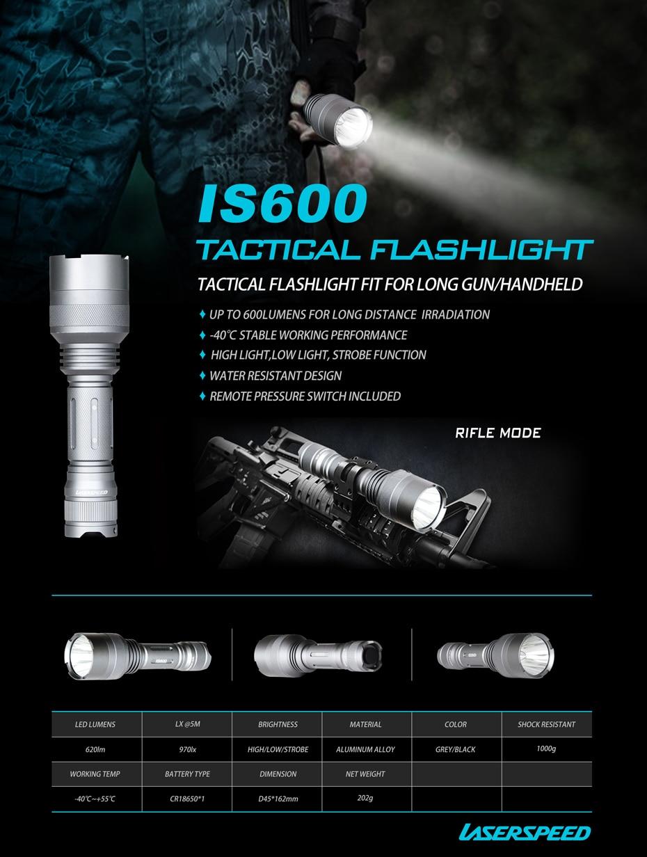 600 lumens led lanterna tática tocha com