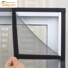 high quality Summer Anti-mosquito Window Screen Fiberglass Encryption Mosquito Net on window with magic Sticker DIY easy install