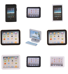 1/12 Dollhouse Miniature Accessories Mini Computer Model Simulation Tablet PC Toys Doll House Decoration Furniture Toys(China)