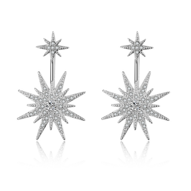Crystals From Swarovski Earring Fashion Jewelry Anti Allergy Shining Star  Stud Earrings Lovely Brincos for Women Party Gift 0a16b677ae