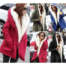 Women Coat 2018 Female Jackets Winter Thick Parka Jacket Fur Collar Cotton Padded Coats Female Slim Women clothin