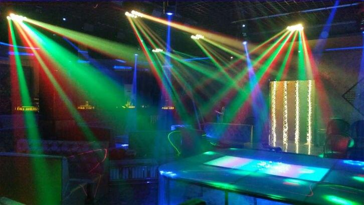 led spider light RGBW