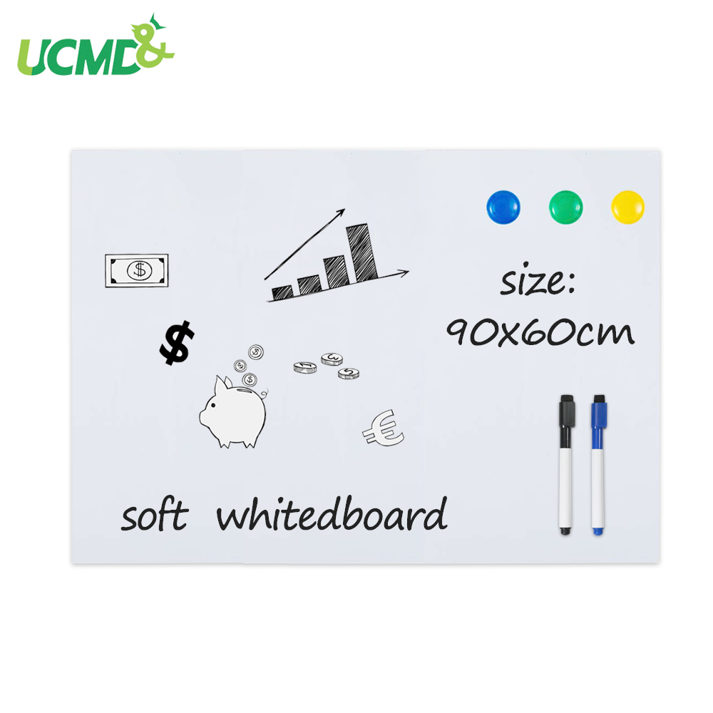 Wall Sticker Decor Magnetic Whiteboard Magnets Erasable Writing Board 40*60CM Home, Furniture & DIY Furniture Stickers
