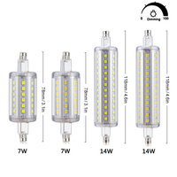 4Pcs R7S Dimmable LED Bulb 2835 SMD 7W J78 78mm 14W J118 118mm AC 85 265V
