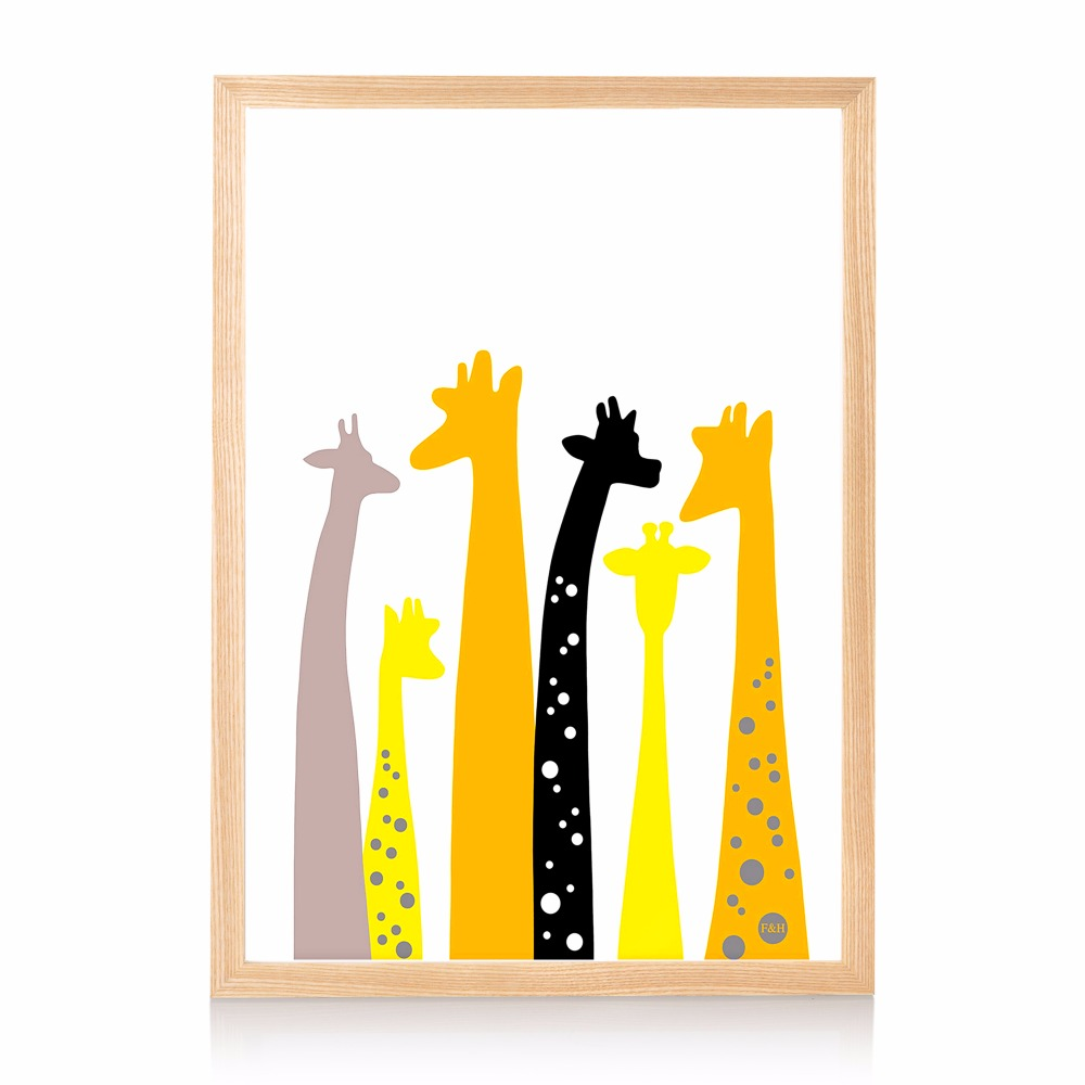 online shop colorful minimalist giraffe canvas art print painting