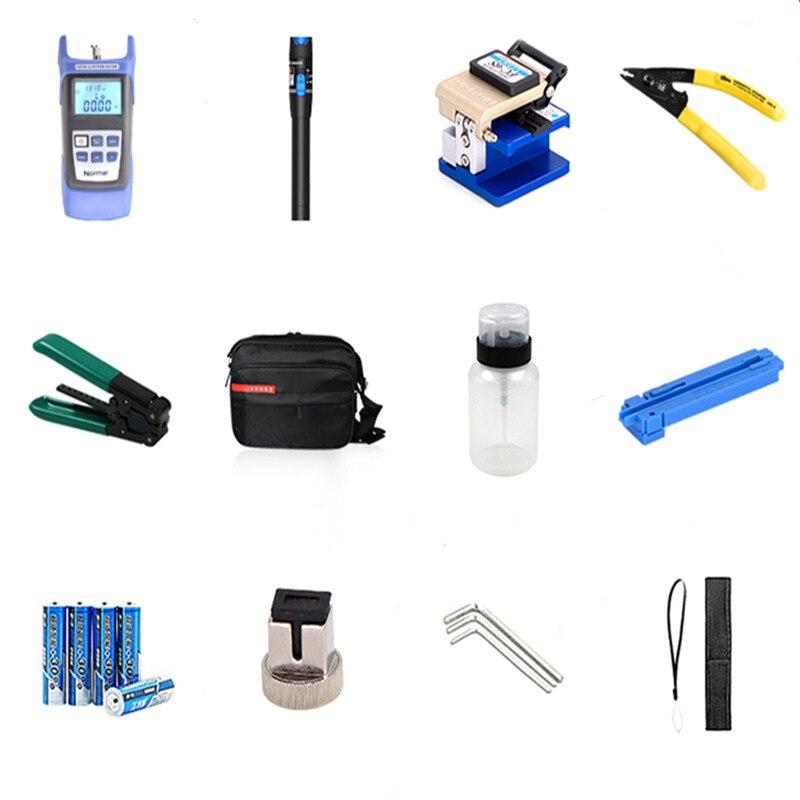 Fibre Optique FTTH Outil Kit Avec Pinces de Pince À Dénuder Et Miller fibre Cleaver Et Optique Power Meter 5 km rouge pointeur laser - 6
