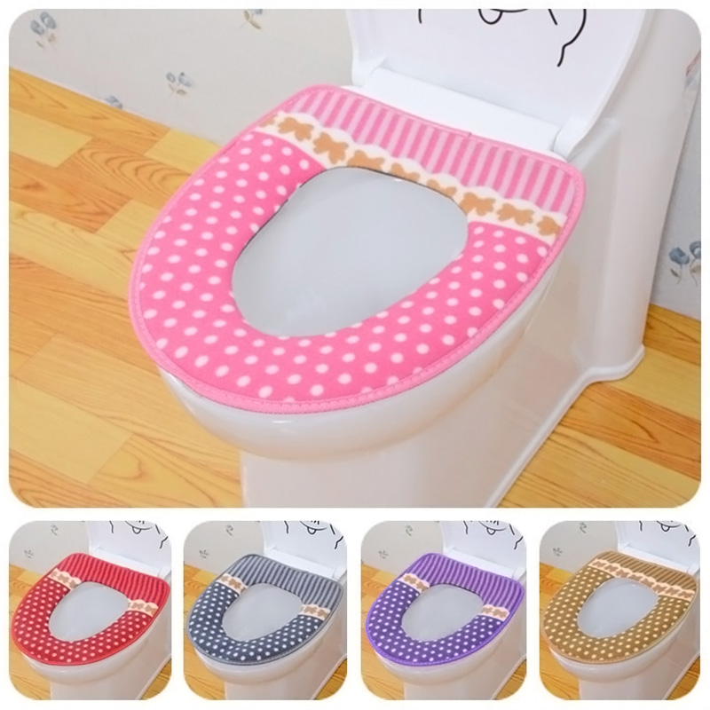 Winter Toilet Seat Warmer Fleece Thick Soft Comfortable Baby Potty Seats Case Bathroom Accessory E2S