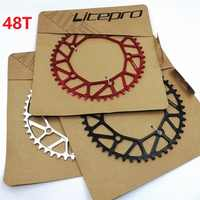 Litepro Chain Wheel 130 BCD 48T Front Single Disc Hollow Ultralight Chain heel 8/9/10 Speed Folding Bike Road Bicycle Parts