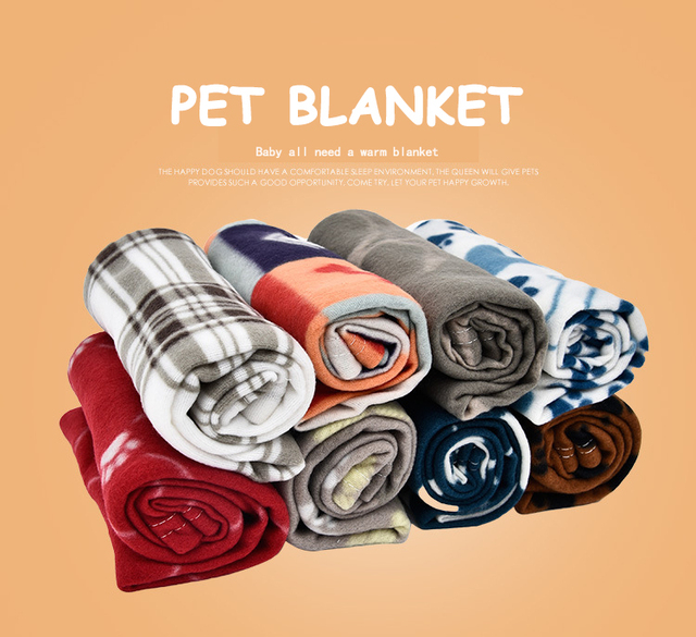 Dog blanket, towel. Soft warm blanket, double-sided available, cats and dogs blanket supplies (four groups)