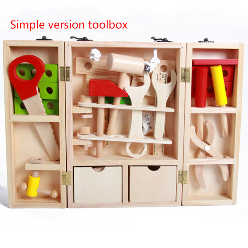 Kit de ferramentas de madeira conjunto brinquedo