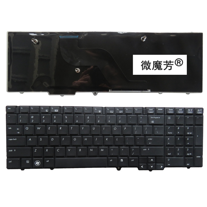 US Black New English <font><b>keyboard</b></font> FOR <font><b>HP</b></font> for EliteBook 8540 <font><b>8540P</b></font> 8540W Laptop <font><b>Keyboard</b></font> image
