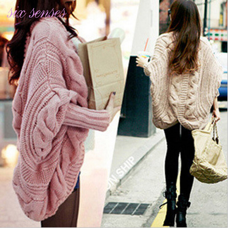 fashion autumn winter women cardigan casual new loose ladies sweater solid long sleeve Batwing Poncho women knitted coat,LB2310