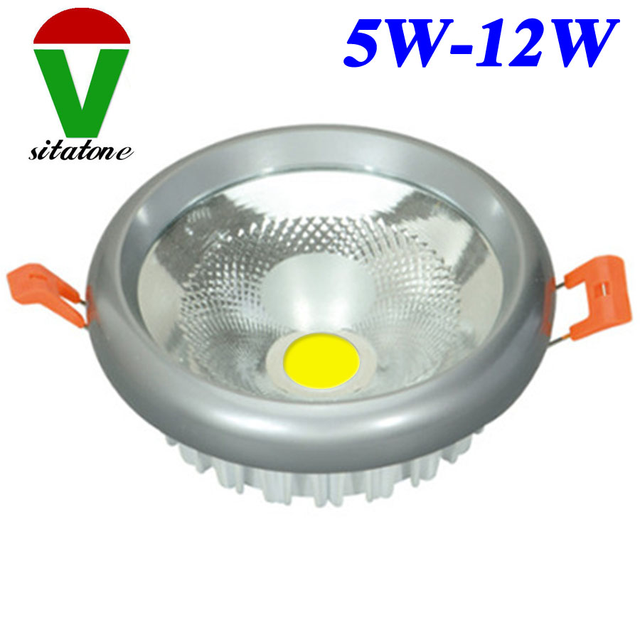 in stock 5W 7W 9W 12W LED COB downlight Recessed LED Ceiling lights Spot Lights Lamps White warm white led lamps bulb aluminum