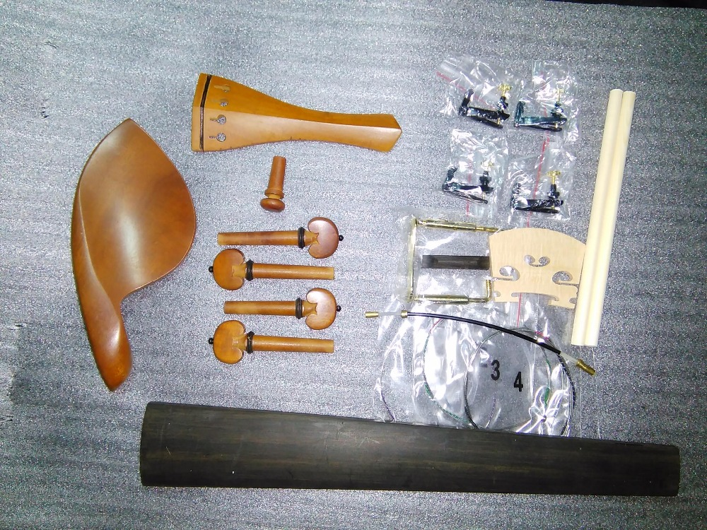 Musical Instruments 1 Set Jujube Violin Parts 4/4 With Bridge Sound Post String Fine Tuner Fingerboard Etc Sf06 Superior Materials Stringed Instruments