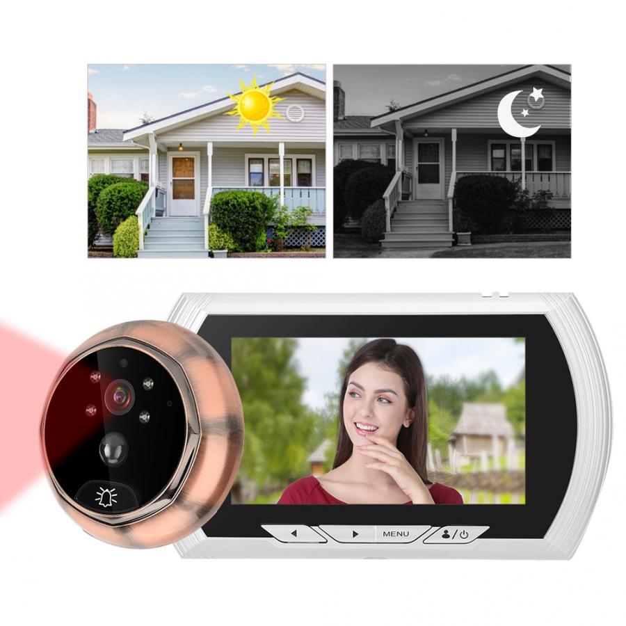 4.3in 1.3MP HD Home Smart Video Doorbell System Door Viewer Camera Monitor Kit PIR Motion sensor bell waterproof Smart door bell