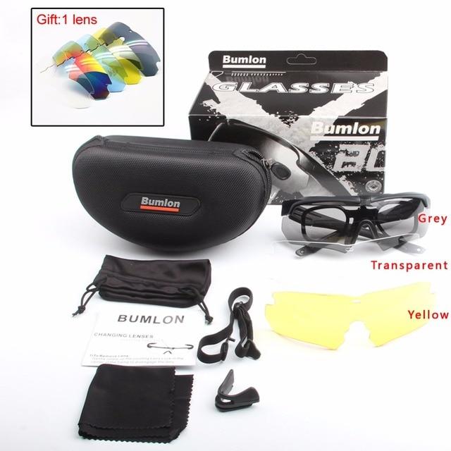 b70b025bb4 BUMLON Tactical Glasses Military Goggles Army Polarized Sunglasses Cycling  Hiking Eyewear Cross Eyeshield 3ls   5ls
