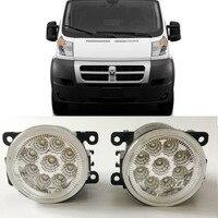 Car Styling For PROMASTER 1500 2500 3500 9 Pieces Leds Chips LED Fog Light Lamp H11 H8 12V 55W Halogen Fog Lights