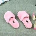 Spring Fashion Women Home Fur Slippers Men Indoor Slipper Furry Lovers House Slippers Natural Sheepskin Fur Slides Bont Slippers