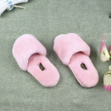 Spring Fashion Women Home Fur Slippers Men Indoor Slipper Furry Lovers House Slippers Natural Sheepskin Fur