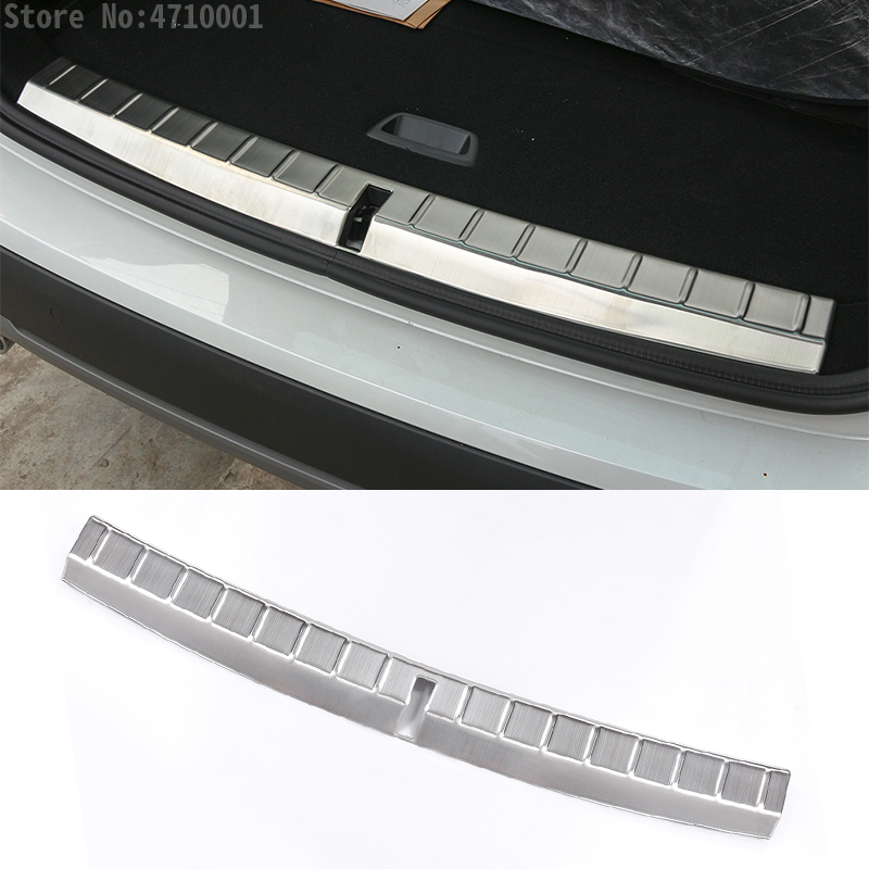 304 Stainless Rear Bumper Door Inner Sill Plate Protector Cover Trim Stickers Car <font><b>Accessories</b></font> For <font><b>BMW</b></font> <font><b>X1</b></font> f48 2016 <font><b>2017</b></font> image