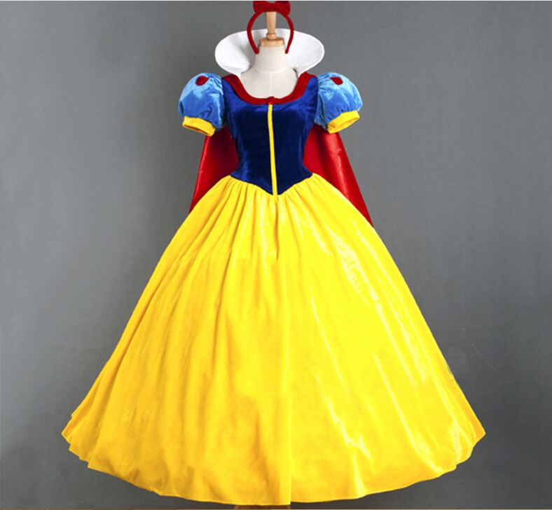 New Snow White Dress Costumes Snow Queen Costume Princess Cosplay Anna Made Women Holiday Party Clothing Costumes For Adults Fragrant Aroma