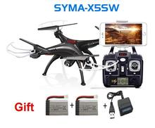 newest RC Drone SYMA X5SW 4CH 2.4G FPV with 2.0MP HD camera WiFi RC Quadcopter 6-Axis syma x5c upgraded version gift 2 battery