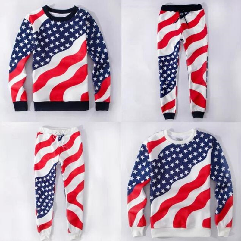 Aliexpress.com : Buy Unisex Men Women Casual American Flag ...