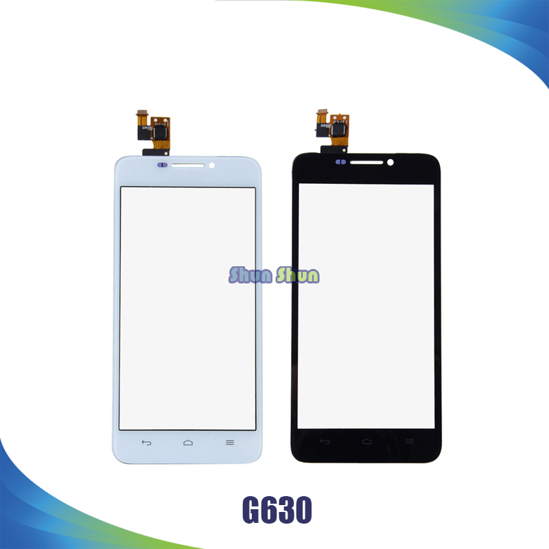 5.0 ''G630 Écran Tactile pour Huawei Ascend G630 G630-U10 Écran Tactile Digitizer Capteur Avant Lentille En Verre Panneau Blanc Noir