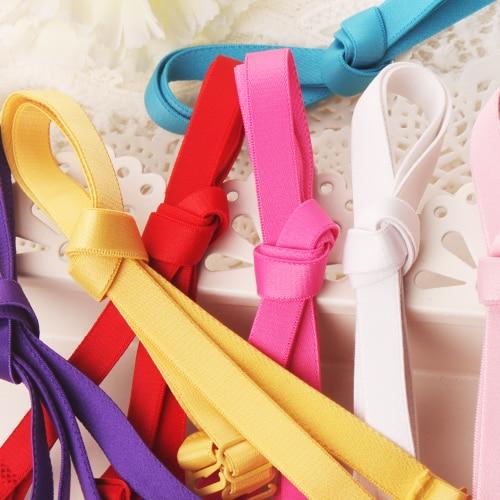 Colored Underwear Adjustable Removable Shoulder Elastic Accessories Bra Straps For Bra 1.0cm Width 10mm Non-Slip