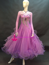 Purple Standard Ballroom Dress High Quality Custom Made Women Stage Tango Waltz Ballroom Competition Dance Dresses