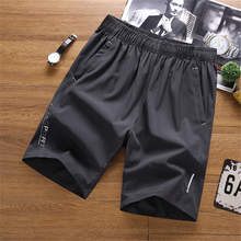 Men's Fitness Shorts 5XL Large Size Loose Gym Beach Wears Running Basketball Two Zippers Pockets Waist Ribbon Shorts
