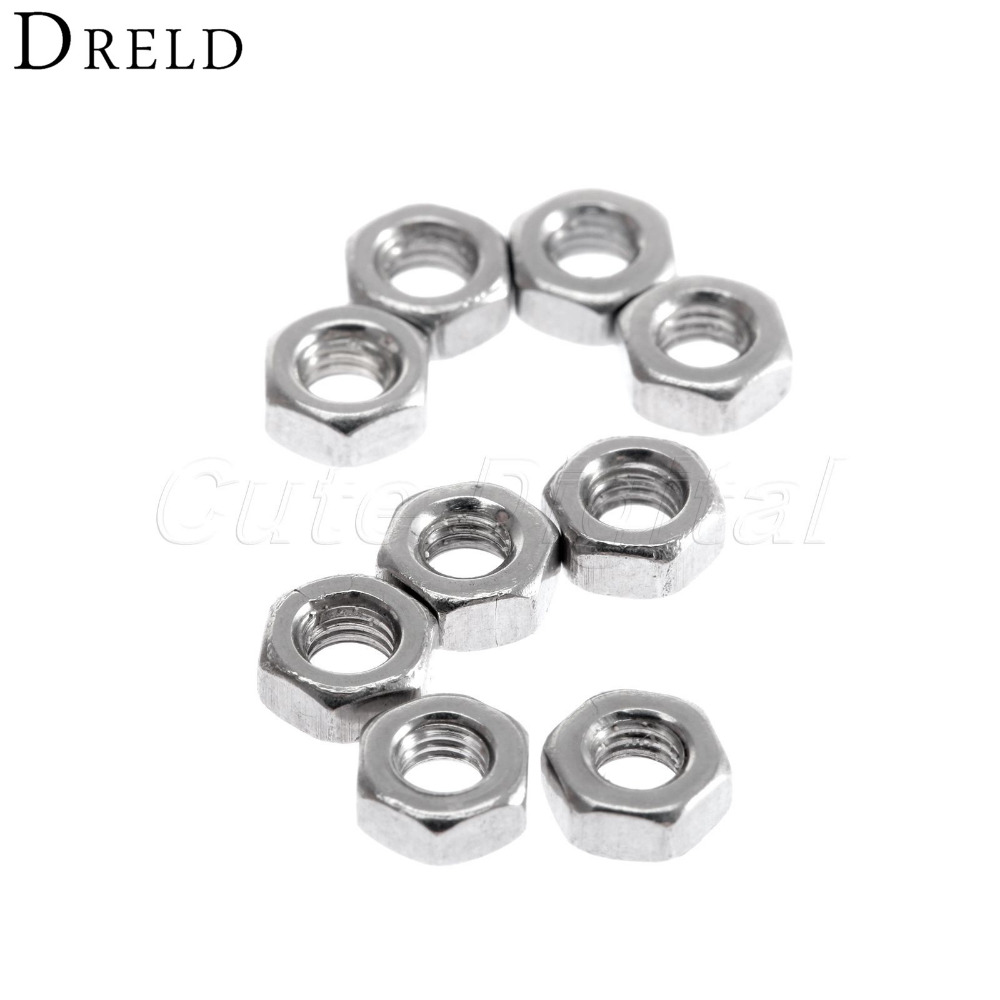 100pcs/lot Dia 3mm M3 Stainless Steel Screw Nut Hex Nuts Set Metric Thread Nuts Hexagon Nuts Bolts for Balancing Machine paulmann трековая система paulmann beta 60284