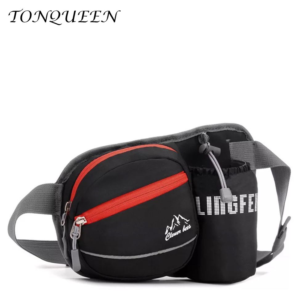 Outdoor Sport Hiking Running Waist Bag Bum Belt Bag Fanny Pack Water bottle Pocket With Headset Hole-Fits Smartphones WX049