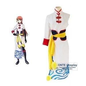 Anime GINTAMA Movie Kagura Cosplay Costumes Chinese Style Cheongsam Women Dress
