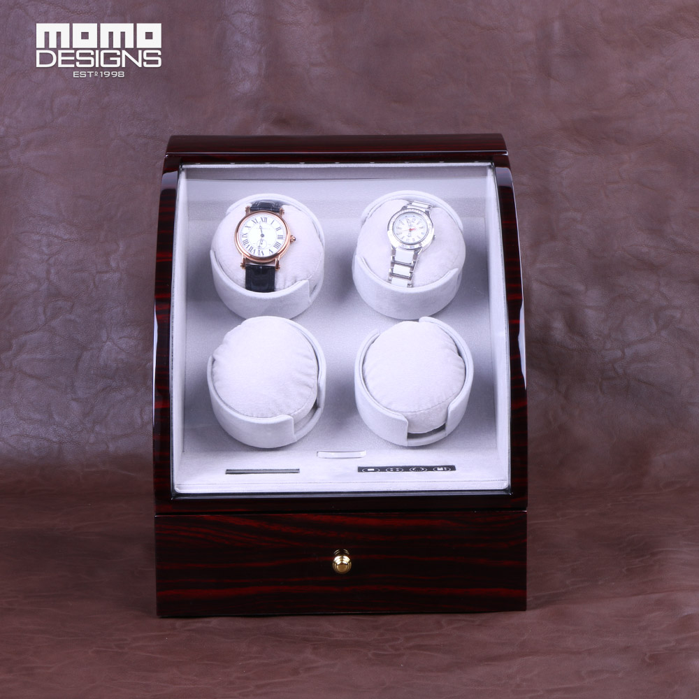 купить Deluxe watch winder for 4 automatic watches JAPAN motor winder machine display with LCD control system по цене 22485.8 рублей