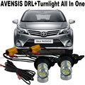 Shin-Man Samsung Chip T20 WY21W 7440 For T.O.Y.O.T.A Avensis 2006-2016 Daytime Running Light DRL&Front Turn Signal All In One