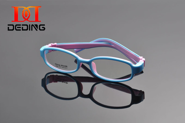 e3f309cac5 DEDING Unbreakable Kids Silicone Oval Glasses Frame Size 47 ...