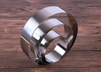 8pcs/set 3.5 10inches round mousse ring stainless steel cake mold DIY baking tools wen6387