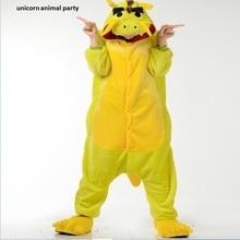 2017 Adult Unisex Pijamas Cartoon Cute Chinese Dragon Sleepwear Animales Flannel Cosplsy Costumes Onesies Pyjama