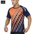 Lingsai marca summer style hombres camiseta 2017 ventas camisas de secado rápido camisetas de manga corta slim fit camiseta de los hombres clothing