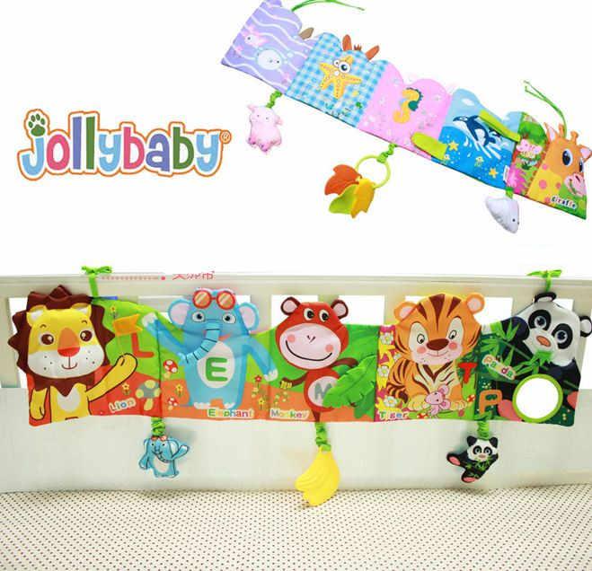 Детская кровать мобильные Ткань Книга шпаргалка кровать вокруг мягкие плюшевые раннего образования cot книга Игрушечные лошадки животного игрушка детская кровать