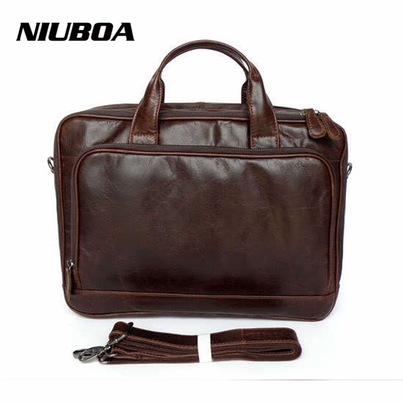 Genuine Leather Men Bag Real Leather Men Handbag Briefcase Fashion Business Laptop Shoulder Bag Top Quality Pocket Messenger bag high quality genuine leather men bag crocodile leather men handbag business shoulder bag briefcase messenger bag cowhide 5017