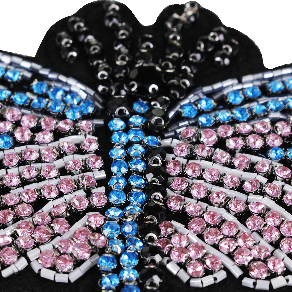 5pieces Handmade Rhinestones Dragonfly Beaded Patches Sew on Clothing  Diamond Crystal Motifs Applique Sewing Supplies TH892-in Patches from Home    Garden on ... e912d369902f