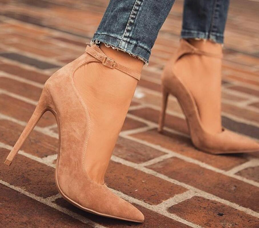 ladies thin high heels girls elegant pumps women pointed toe gladiator faux suede shoes woman sexy zapatos mujer sapato F180540 goxeou 2018 shoes women 10cm pointed toe stiletto heels pumps ladies stylish high heels shoes faux suede sapato size32 46