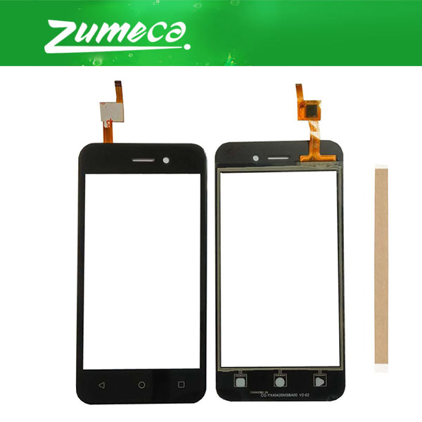 High Quality For Fly 5S Touch Screen Digitizer Touch Panel Lens Glass Replacement Part With Tape Black Color
