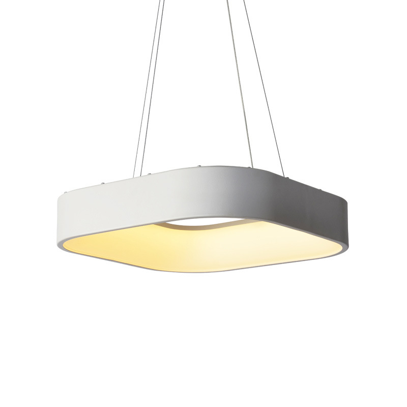 Modern Square LED Pendant Lamp Simple Circle Droplight Aluminum Hanging Dimmable Pendant Light for Home Office DecorationModern Square LED Pendant Lamp Simple Circle Droplight Aluminum Hanging Dimmable Pendant Light for Home Office Decoration