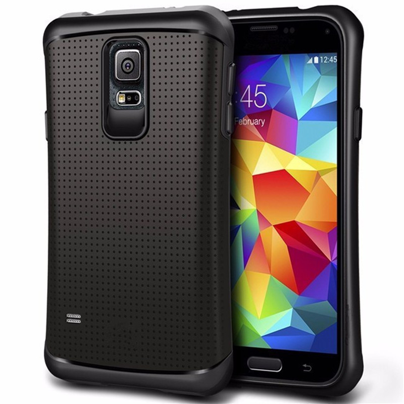 3dc391d9e5a Hybrid PC + TPU Dual Layer Shockproof Protect Case For Samsung Galaxy S5  i9600